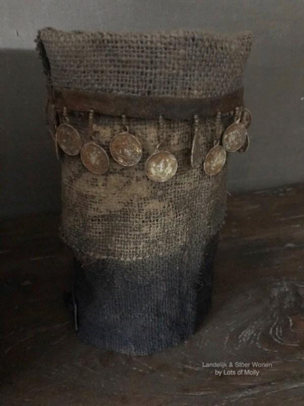 Windlichtcover met muntjes handgemaakt van de Meidenmuts