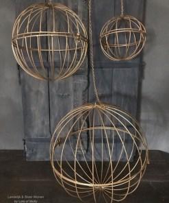 Set van 3 goudkleurige ijzeren ballen