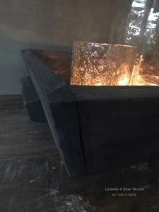 Stoere houten bak met handvatten M