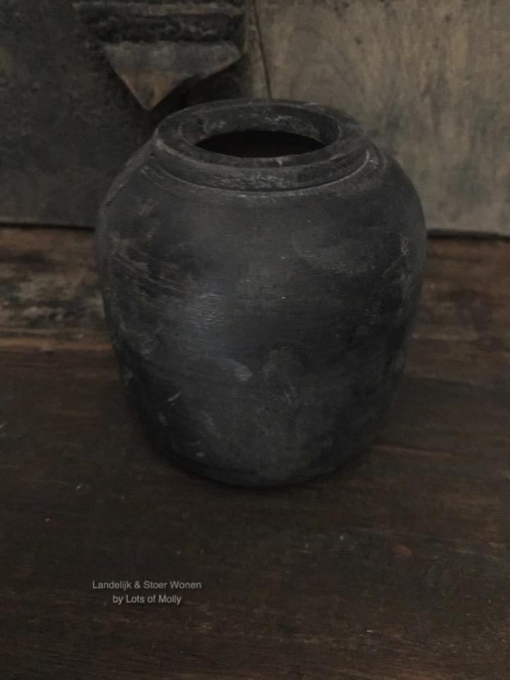Decoratief houten potje