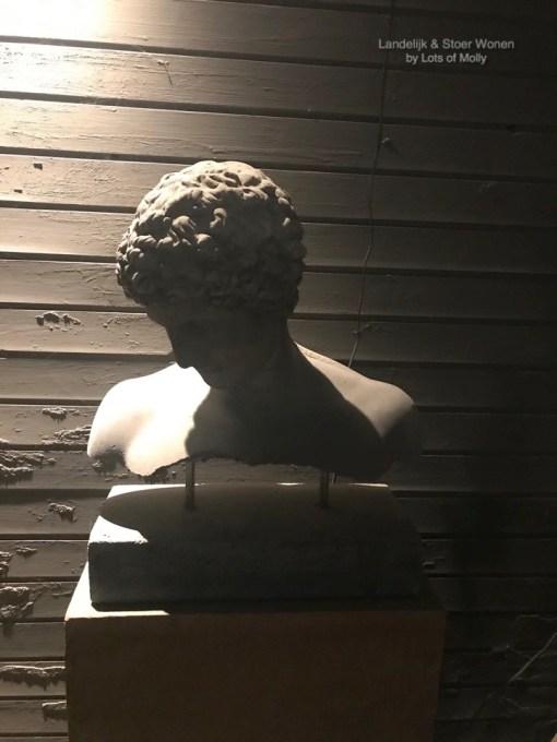 Betonnen borstbeeld Hermes
