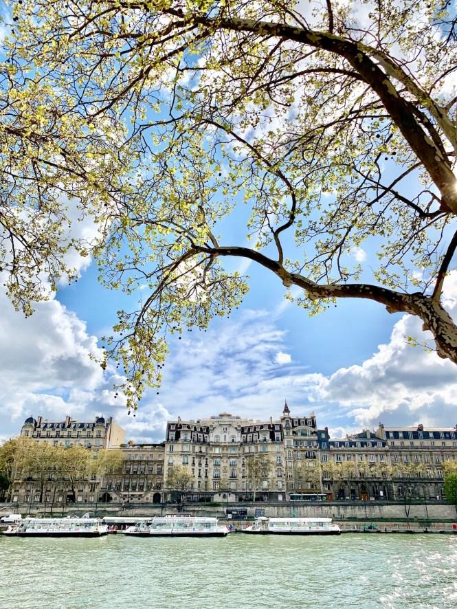 April in Paris Seine River View