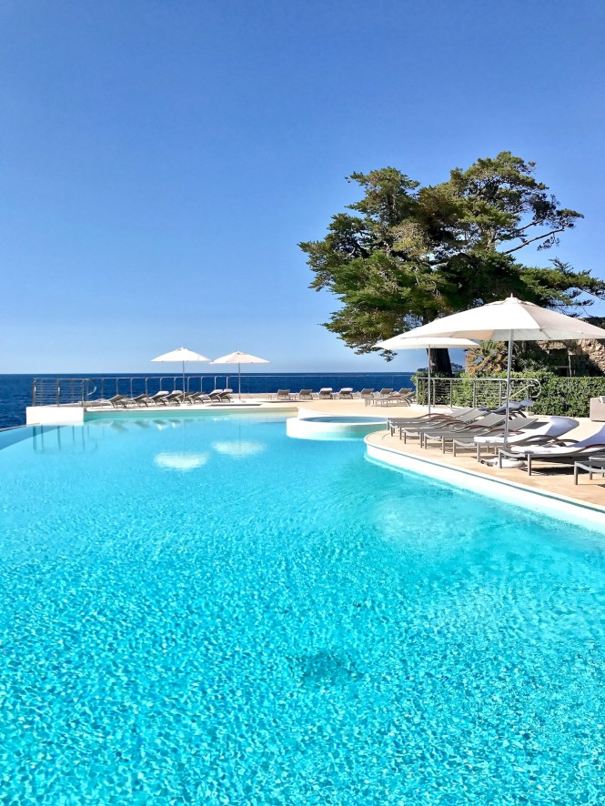 Pool view at Hotel Cap Estel Èze