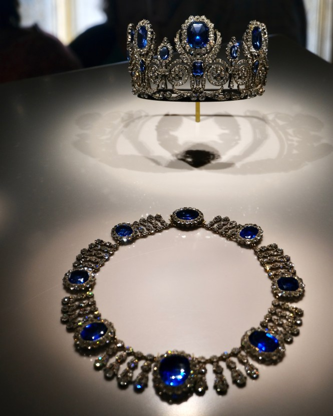 Sapphire and Diamond Necklace and Crown French Crown Jewels