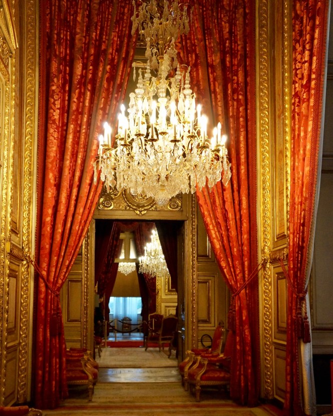 Opulent interiors at the Louvre
