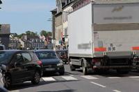 Camion en centre-ville