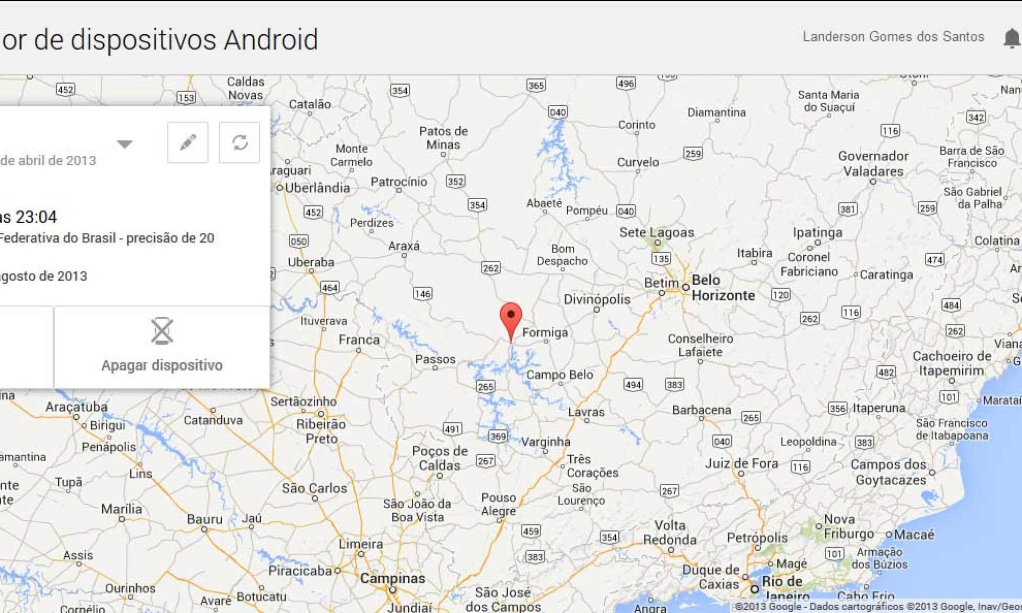 Android Device Manager em Ação