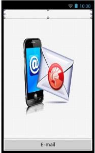 Tela da Aplicação de e-mail
