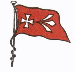 Flagge des Stralsunder Ruder-Clubs