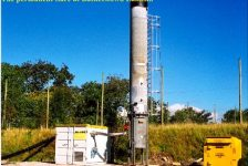 enclosed landfill gas flare