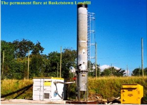 enclosed landfill gas flare