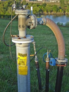 Image shows a landfill gas recovery well.