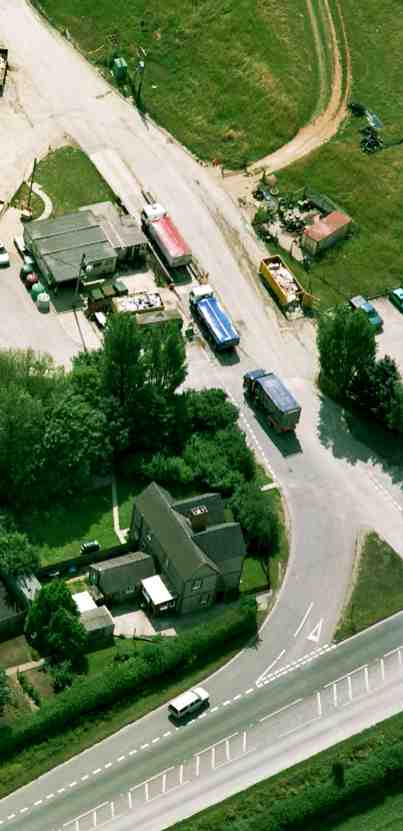Aerial view of weighbridge
