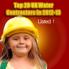 Top 20 UK Water Contractors in 2012-13