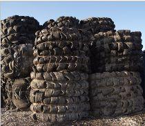 Tyre bales circular