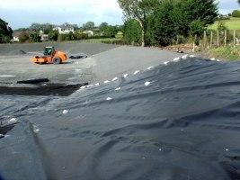 progression of landfill lining layers