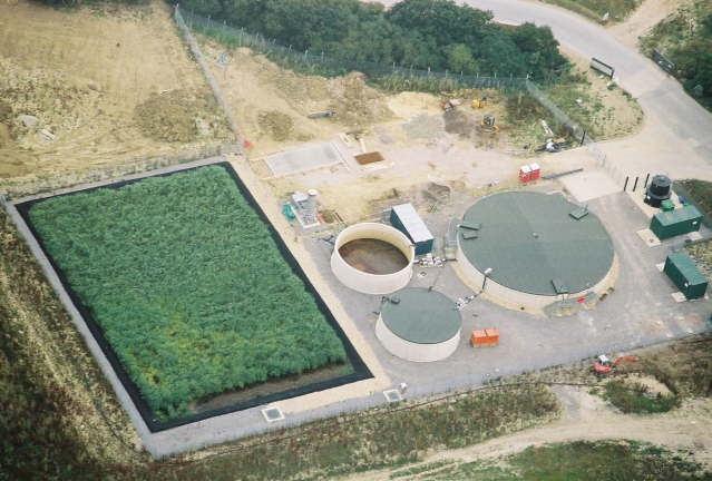 landfill leachate plant with reed bed treatment