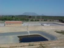 A Leachate Storage Lagoon
