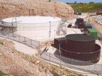 A Modern Leachate Treatment Plant the Cleans Landfill Effluent