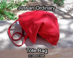 just an ordinary recycled tote bag