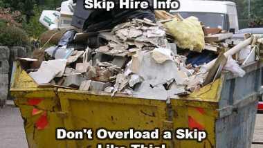 landfill skip hire do not overload