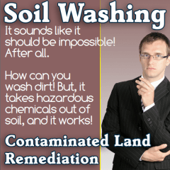 Soil washing for contaminated land