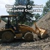 recycled concrete stockpile