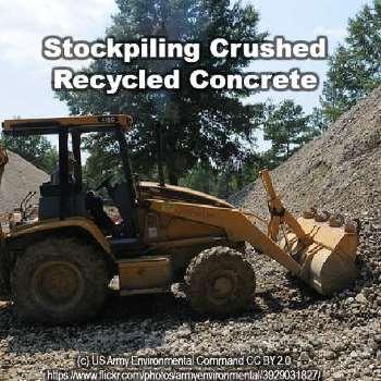 recycled concrete stockpile