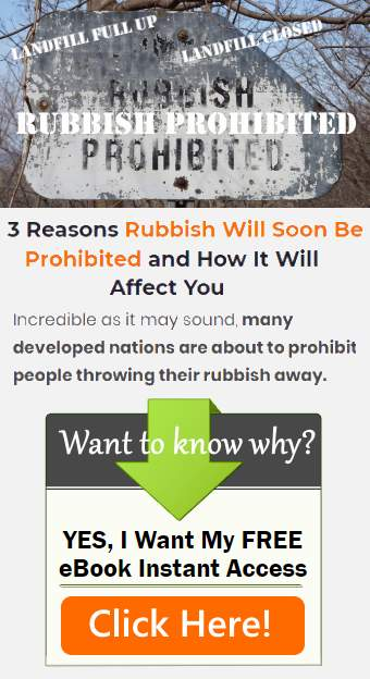Image is our Landfill Site Rubbish Prohibited eBook SignUp Banner.