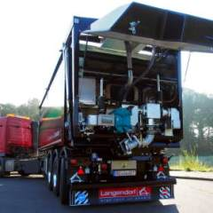 Huesker's new FCC+ Tipper Trailer with Borger pump (Börger's FL1036 pump).