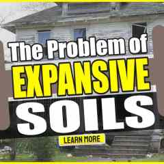 """Image with text: """"The Problem of Expansive Soils""""."""