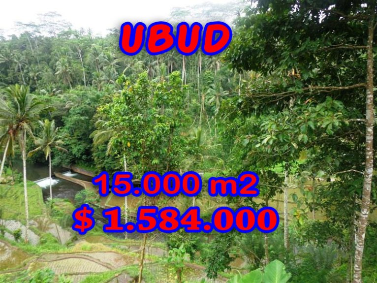 Land for sale in Ubud Tampak Siring, Magnificent Property in Bali  – 15,000 sqm @ $ 106