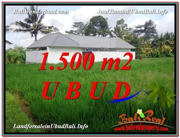 Beautiful PROPERTY 1,500 m2 LAND IN Sentral Ubud FOR SALE TJUB600