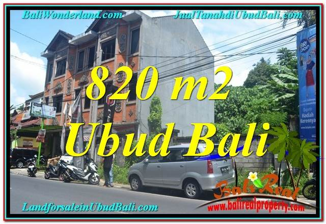 Exotic PROPERTY UBUD 820 m2 LAND FOR SALE TJUB643