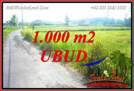 FOR sale Beautiful Property 1,000 m2 Land in Ubud Pejeng Bali TJUB739