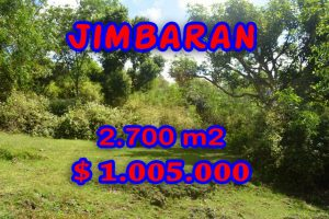 Spectacular Property for sale in Bali, land for sale in Jimbaran Bali  – 2.700 sqm @ $ 372