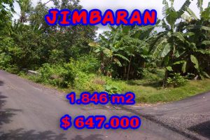 Property in Bali for sale, Extraordinary land for sale in Jimbaran Bali  – 1.846 m2 @ $ 350