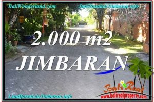 Beautiful 2,000 m2 LAND FOR SALE IN JIMBARAN TJJI115