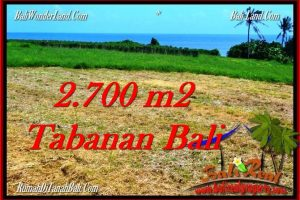 Magnificent 2,700 m2 LAND IN TABANAN BALI FOR SALE TJTB286