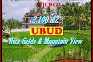 FOR SALE Beautiful PROPERTY 2,100 m2 LAND IN UBUD BALI TJUB423