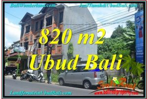 Exotic PROPERTY UBUD 820 m2 LAND FOR SALE TJUB643