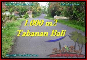 Beautiful TABANAN BALI 1,000 m2 LAND FOR SALE TJTB243