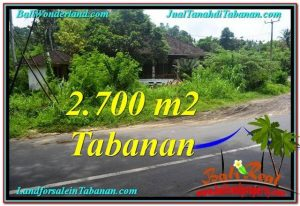 Beautiful 2,700 m2 LAND IN TABANAN BALI FOR SALE TJTB299