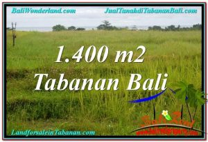 Magnificent 1,400 m2 LAND IN TABANAN FOR SALE TJTB309