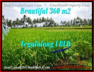 Exotic UBUD BALI 360 m2 LAND FOR SALE TJUB482