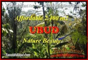 Affordable PROPERTY 2.400 m2 LAND SALE IN UBUD TJUB454