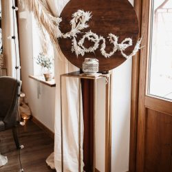 Schild Hochzeit Pampasgras Boho-Hochzeit
