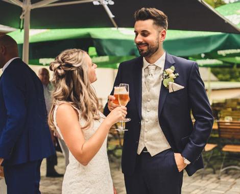 Sektempfang Hochzeitslocation