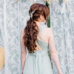 Hochzeitsfrisur Infinity-Kleid infinity dress