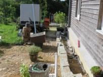 Granitmauer & Steckkieselpflaster